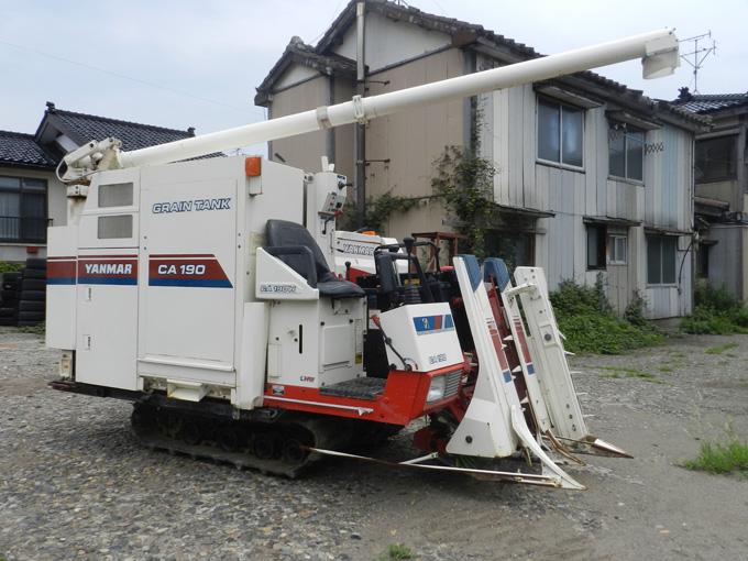 新潟県内のお客様からヤンマーコンバインCA190を買取させて頂きました