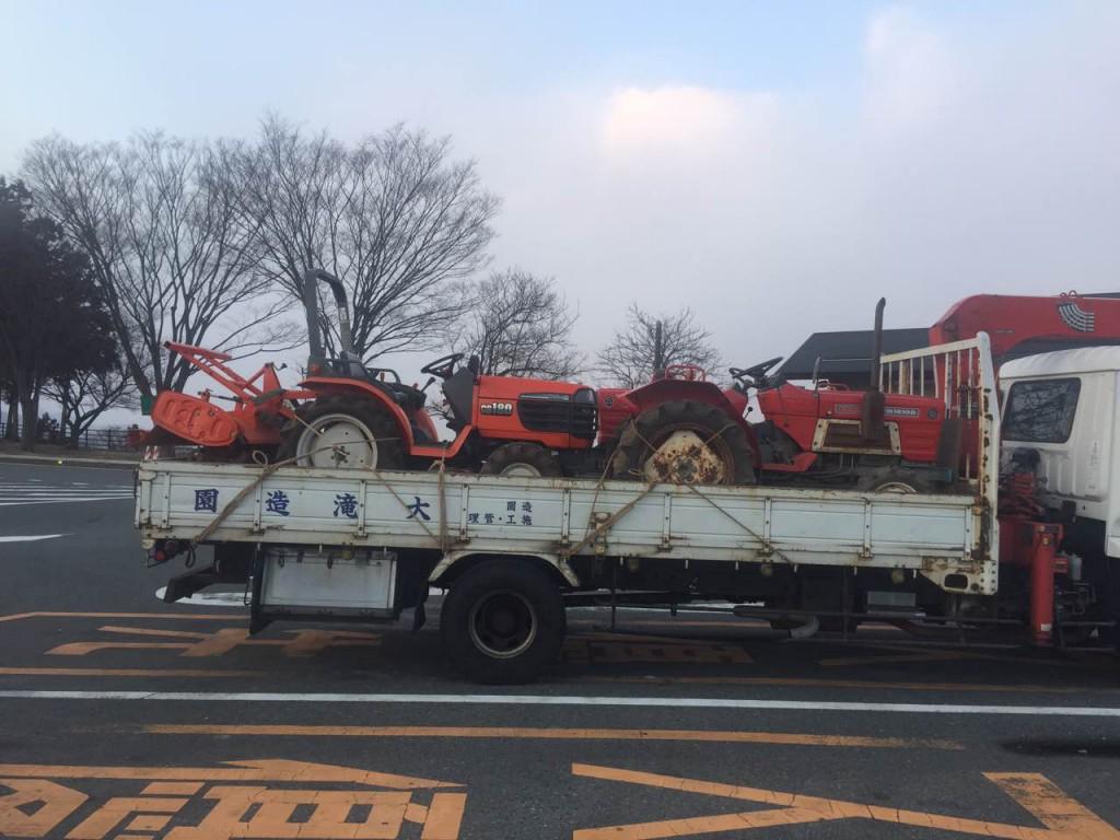 千葉県のお客様からトラクター3台を買取させて頂きました。