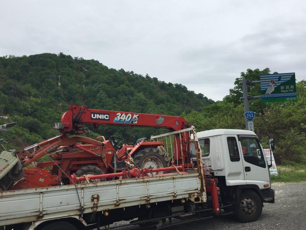 久々の奥只見線、福島と新潟県境で写真を撮りました。南会津のA様ありがとうございます。クボタトラクターL1-255