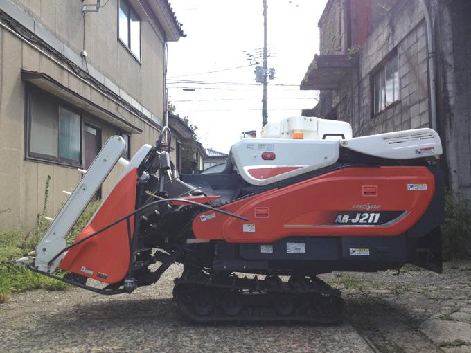 新潟県内のお客様からクボタのコンバインAR-J211を買取させて頂きましたの写真