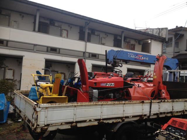 新潟県内のお客様からヤナセ除雪機スノースロワー9-11H他を買取させて頂きましたの写真