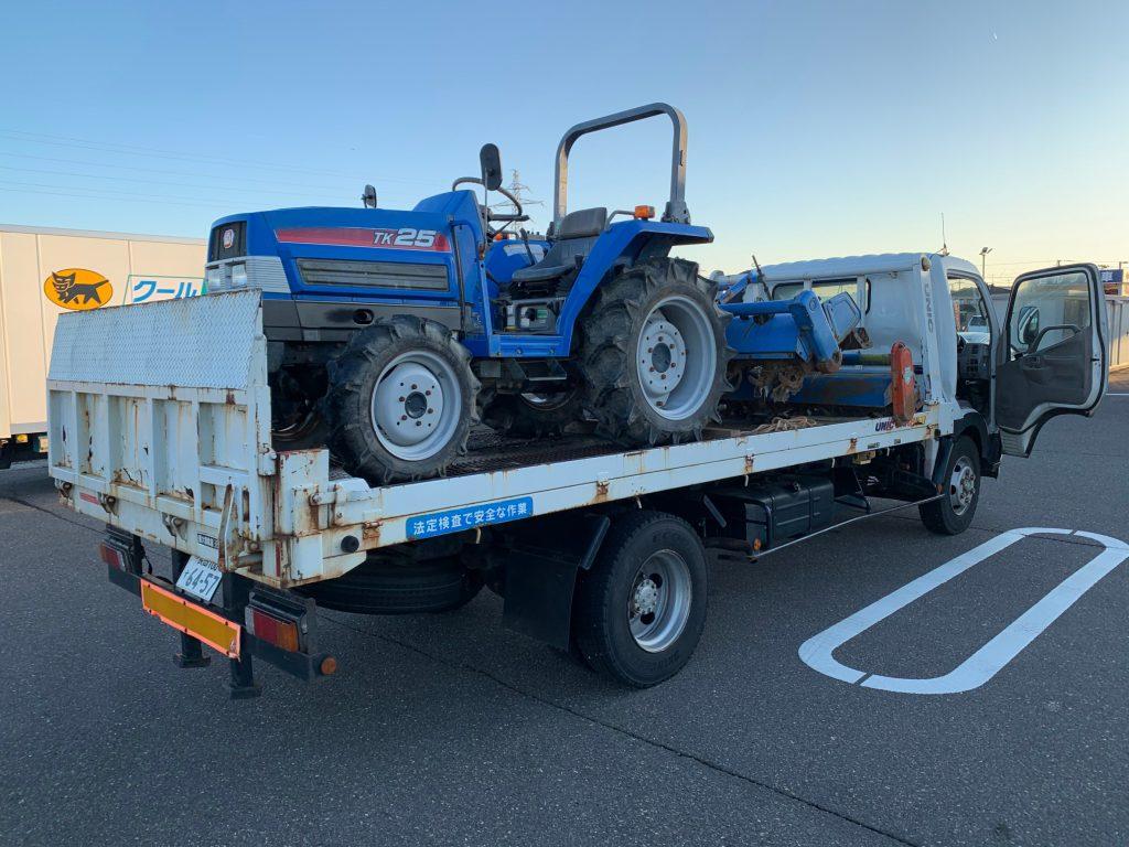 上越市柿崎区 イセキトラクターTK25 新しいトラクター購入の為 買い取り業者を探していたとの事。当社のチラシをみてご連絡頂きました。納得のいくお値段で喜んで頂きありがとうございました。